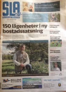 Skövde naturskyddsförenings ordförande Kurt-Anders Johansson på förstasida av SLA